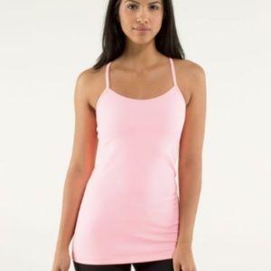 LULULEMON Light Pink POWER Y TANK size 8